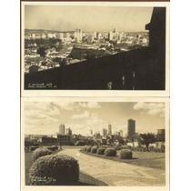 02 Cartão Postal Antigo Belo Horizonte 1948 Panorama E Praça