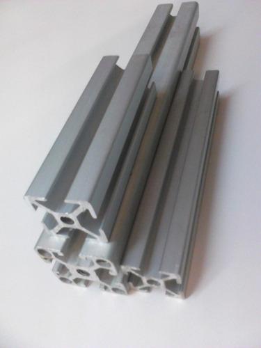 Perfil de aluminio 30x30 ranura 8mm tipo bosch metro lineal en mercado libre - Perfiles de aluminio para muebles ...