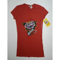 Camiseta Feminina Don Ed Hardy By Christian Audigier - Pp