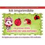 Kit Imprimible Primer Añito Vaquitas De San Antonio Cotillon