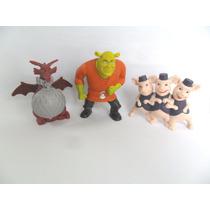 Ogro Shrek Dragão E Três Porquinhos Bonecos Personagens