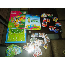 Kit Álbum Copa Mundo 2014 Capa Dura + 50 Figurinhas + Cards