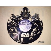 Original Reloj De Pared En Disco De Vinil - Star Wars