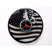 Reloj De Pared Disco De Vinilo Vinil Acetato Capitán América