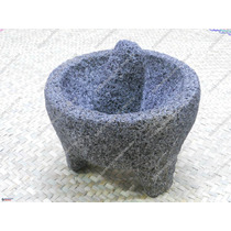 Molcajete De Piedra Negra Típico Mexicano 18cm Diametro