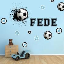 Vinilo Decorativo Kit Futbol Con Tu Nombre!