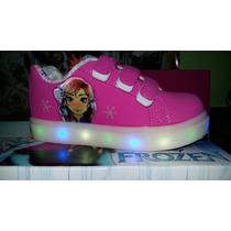 Zapatillas Addnice Frozen, 1000 Luces !!!, Con Luz! Niña !