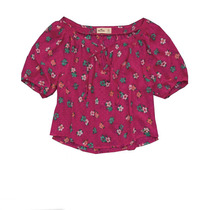 Blusa De Gasa Estampada Importada De Mujer Hollister
