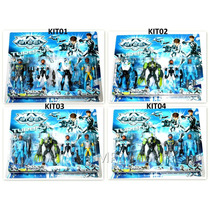 Kit Com 4 Bonecos Max Steel Turbo - A Pronta Entrega