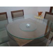 Prato Esteira Giratório De Vidro Mesa Jantar Decor 80cm Novo