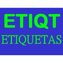 Etiqueta14 Autoadheribles 50mm X 15mm Blanca Impresa Mill