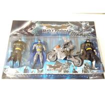 Kit Batman The Dark Knight Con Moto Articulados Luz Led