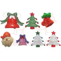 100 Botões Infantis De Natal Sortidos Ou Modelo Único Pacote