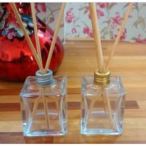 10 Frascos Vidro Aromatizadores Cubo 100 Ml Difusor