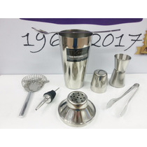 Set Barman Profesional Coctelera + 5 Piezas Regalo Cocktail