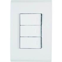 Conjunto 3 Interruptores Simples Triplo 10a Liz - Tramontina