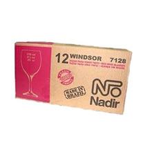 12 Copas Vino Vidrio Nadir Original Windsor Caja Al Costo
