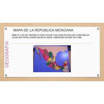 Mapa De La Republica Mexicana Montessori