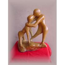Escultura -datada 1994casal De Enamorados-assinada-exclusiva
