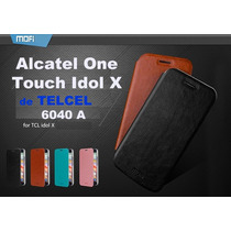 Alcatel One Touch Idol X 6040a Funda Cartera Flip Case