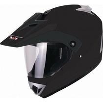 Casco V Can V370 Cross C/ Visor Liso En Freeway Motos!