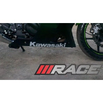 Par De Adesivo Kawasaki P/ Carenagem Inferior Moto Ninja 250