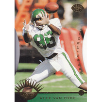 1996 Leaf Press Proof Rookie Alex Van Dike Wr Jets