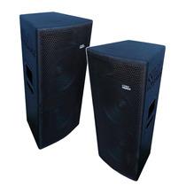 Par Caixas Acústicas Ativa + Passiva 1500w 2x12 Falante Eros