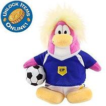 Club Penguin J. Futebol Pelúcia Com Moeda De Ouro Série 8