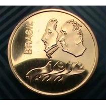 Moeda Ouro Sesquicentenario-estojo +2 Moedas Prata E Nikel