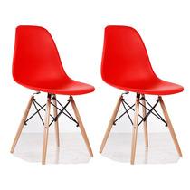 4 Cadeiras Dkr Wood Polipropil. Charles Eames Adulto Byexcel