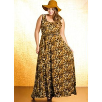 Lote 10 Vestido Longo Extra Gg/plus Size Liganete Revenda