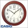 Reloj Pared Casio Iq-60 Grande Analogo Imita Madera Preciso