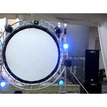 Lienzo Circular De Proyeccion. Para Video Proyector.