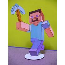 Adornos Para Tortas Minecraft Steve