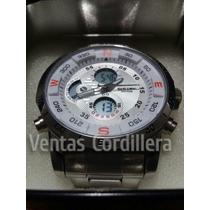 Reloj Bistec Digital&análogo,resistente Al Agua,cronómetro