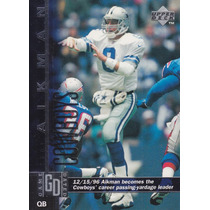 1997 Upper Deck Game Dated Troy Aikman Qb Cowboys