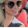 Óculos Sol Feminino Espelhado Sideral Rendondo Metal Gatinho