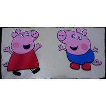 Peppa Pig Y George - Goma Eva - 10cm