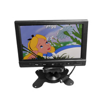 Tela Lcd 7 Polegadas Portátil Monitor Veicular Digital Cores