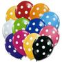 Globos Polka Dots Círculos Lunares Puntos Fiestas 6 Unidades