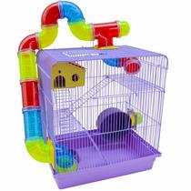 Gaiola Casinha 3 Andares Para Hamster Labirinto Completa