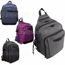 Mochila Backpack Para Laptop 15.4 Pulg Y Netbook 10.1 Unisex