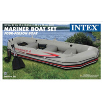 Nueva Intex Mariner 4 Lancha Bote Inflable 2013 + Base Motor