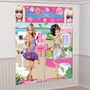 Decoracion Para La Pared Mural Barbie Fashion.