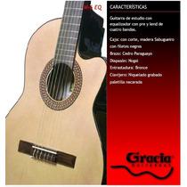 Guitarra Eléctrocriolla Gracia Modelo M6eq Con Funda