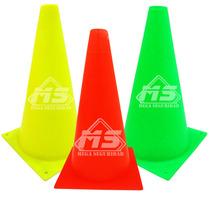 Conos De Seguridad Vial Neon 30cm Señalamiento Deportivo