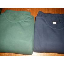 Conjuntos Escolares De Buzo Y Pantalon Azul Y Verde