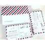 Combo Invitaciones Tipo Postal Paris X60 Invitaciones /sobre