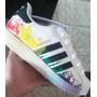 Tênis Adidas Superstar Feminino Coloridona Caixa Fretegrátis